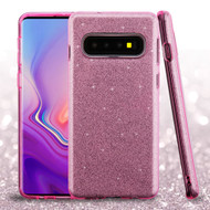 Full Glitter Hybrid Protective Case for Samsung Galaxy S10 - Pink