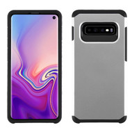 Hybrid Multi-Layer Armor Case for Samsung Galaxy S10 - Silver
