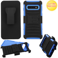 Advanced Armor Hybrid Kickstand Case with Holster for Samsung Galaxy S10 - Blue 203