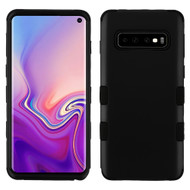 Military Grade Certified TUFF Hybrid Armor Case for Samsung Galaxy S10 - Black 001