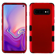 Military Grade Certified TUFF Hybrid Armor Case for Samsung Galaxy S10 - Red 006