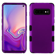 Military Grade Certified TUFF Hybrid Armor Case for Samsung Galaxy S10 - Purple