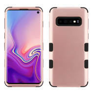 Military Grade Certified TUFF Hybrid Armor Case for Samsung Galaxy S10 - Rose Gold