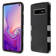 Military Grade Certified TUFF Hybrid Armor Case for Samsung Galaxy S10 - Black Grey