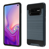 Brushed Coated Hybrid Armor Case for Samsung Galaxy S10 - Ink Blue