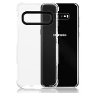 Transparent Protective Bumper Case for Samsung Galaxy S10 - White