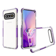 Transparent Protective Bumper Case for Samsung Galaxy S10 - Purple