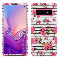 Military Grade Certified TUFF Hybrid Armor Case for Samsung Galaxy S10 - Pink Fresh Rose