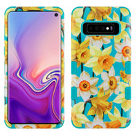 Military Grade Certified TUFF Hybrid Armor Case for Samsung Galaxy S10 - Spring Daffodils