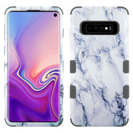Military Grade Certified TUFF Hybrid Armor Case for Samsung Galaxy S10 - Marble White