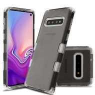 Military Grade Certified TUFF Lucid Transparent Hybrid Armor Case for Samsung Galaxy S10 - Smoke
