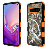 Military Grade Certified TUFF Hybrid Armor Case for Samsung Galaxy S10 - Tree Camouflage