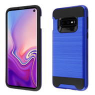 Brushed Coated Hybrid Armor Case for Samsung Galaxy S10e - Blue