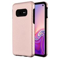 Carbon Fiber Hybrid Case for Samsung Galaxy S10e - Rose Gold