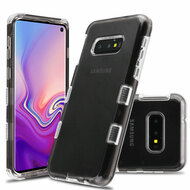 Military Grade Certified TUFF Lucid Transparent Hybrid Armor Case for Samsung Galaxy S10e - Smoke