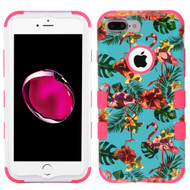 Military Grade Certified TUFF Hybrid Armor Case for iPhone 8 Plus / 7 Plus - Tropical Flamingo