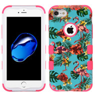 Military Grade Certified TUFF Hybrid Armor Case for iPhone 8 / 7 - Tropical Flamingo