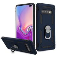 Armor Ring Finger Loop Hybrid Case for Samsung Galaxy S10 Plus - Navy Blue