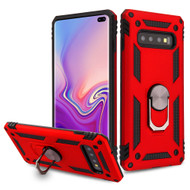 Armor Ring Finger Loop Hybrid Case for Samsung Galaxy S10 Plus - Red