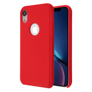 Liquid Silicone Protective Case for iPhone XR - Red