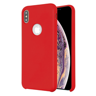 Liquid Silicone Protective Case for iPhone XS Max - Red