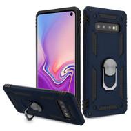 Armor Ring Finger Loop Hybrid Case for Samsung Galaxy S10 - Navy Blue