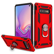 Armor Ring Finger Loop Hybrid Case for Samsung Galaxy S10 - Red