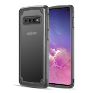 Tough Shield Snap-on Transparent Case for Samsung Galaxy S10 - Black
