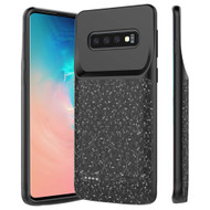 Smart Power Bank Battery Charger Case 5000mAh for Samsung Galaxy S10 Plus - Matrix Black