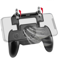 Mobile Game Controller with Integrated Cooling Fan and Power Bank Battery Charger - Black