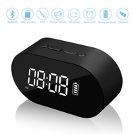 *SALE* Bluetooth V4.2 Wireless Stereo Speaker with Alarm Clock and FM Radio - Black