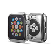 Electroplate Color Bumper Case for Apple Watch 44mm Series 4 - Silver