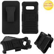 Advanced Armor Hybrid Kickstand Case with Holster for Samsung Galaxy S10e - Black