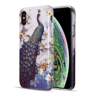 Artistry Collection Glitter TPU Case for iPhone XS / X - Peacock