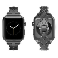 Rhombus Design Stainless Steel Bracelet Watch Band for Apple Watch 40mm / 38mm - Black