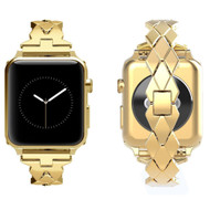 Rhombus Design Stainless Steel Bracelet Watch Band for Apple Watch 40mm / 38mm - Gold