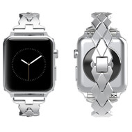 Rhombus Design Stainless Steel Bracelet Watch Band for Apple Watch 40mm / 38mm - Silver