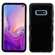 Military Grade Certified TUFF Hybrid Armor Case for Samsung Galaxy S10e - Black 001