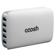 5 Port High Speed USB Hub Desktop Charger - White