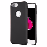 Liquid Silicone Protective Case for iPhone 8 Plus / 7 Plus / 6S Plus / 6 Plus - Black