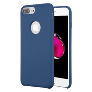 Liquid Silicone Protective Case for iPhone 8 Plus / 7 Plus / 6S Plus / 6 Plus - Blue