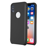 Liquid Silicone Protective Case for iPhone XS / X - Black