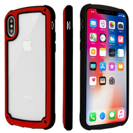 Tough Shield Snap-on Transparent Case for iPhone XS / X - Red