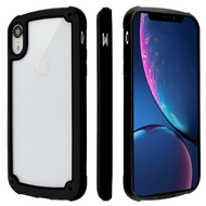 Tough Shield Snap-on Transparent Case for iPhone XR - Black
