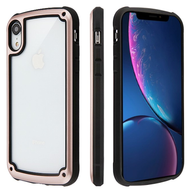 Tough Shield Snap-on Transparent Case for iPhone XR - Rose Gold
