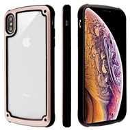 Tough Shield Snap-on Transparent Case for iPhone XS Max - Rose Gold