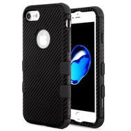 Military Grade Certified TUFF Fuse Hybrid Armor Case for iPhone 8 / 7 - Carbon Fiber Black