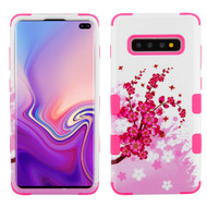 Military Grade Certified TUFF Hybrid Armor Case for Samsung Galaxy S10 Plus - Spring Flowers