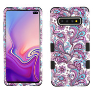 Military Grade Certified TUFF Hybrid Armor Case for Samsung Galaxy S10 Plus - Persian Paisley