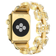 Elegant Luxury Diamond Link Stainless Steel Watch Band for Apple Watch 44mm / 42mm - Gold